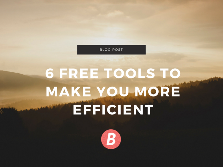 6 free marketing tools to make you more efficient.